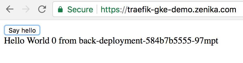 Traefik comme reverse proxy sur GKE