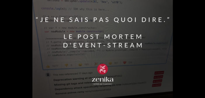 """Je ne sais pas quoi dire."" – le post mortem d'event-stream"
