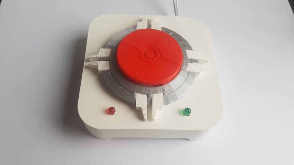 bouton imprimé en 3d pour commander du café